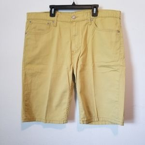 Levi's 508 mustard yellow denim men's shorts